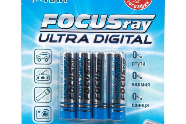 БАТАРЕЙКА ЩЕЛОЧНАЯ FOCUSRAY ULTRA DIGITAL LR03/BL4